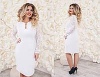 Платье (48,50,52,54) —  крепдайвинг от компании Discounter.top 54