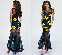 Платье (42,44,46) — дайвинг, сетка купить оптом и в розницу в одессе  7км