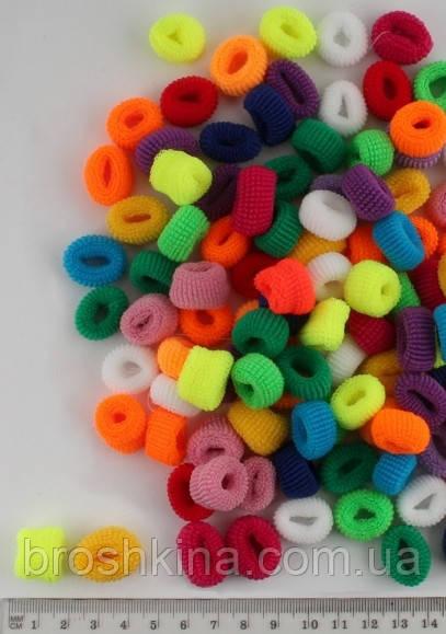 Махровая резинка Калуш малая 120 шт/уп цветная