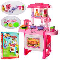 Кухня розовая WD-A22 (плита,духовка,посуда,продукты,)