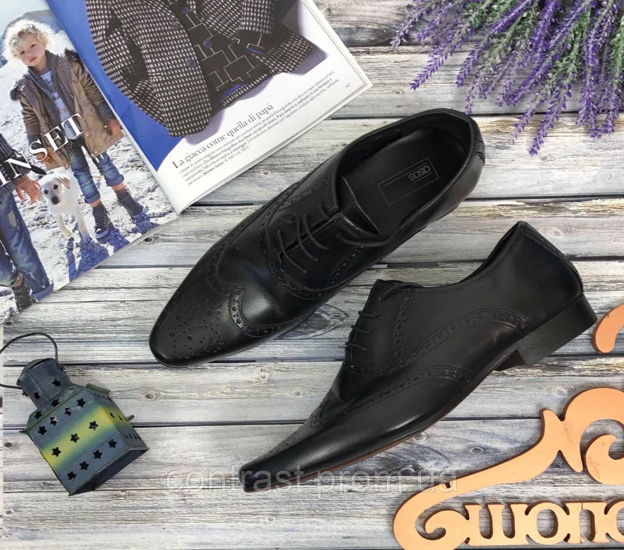 Мужские туфли с перфорацией  SH39164