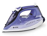 #150159 - Утюг Vitek VT-1239 White/Blue, 2400W, двойное керамическое покрытие, автоматическое отключение, вертикальное отпаривание, защита от накипи,