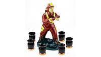 Коньячный набор Пожарник, 7 предметов