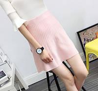 Стильная женская юбка трапеция из мягкого трикотажа (3 цвета)