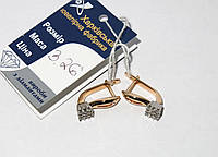 Золотые серьги с бриллиантами 880185-С
