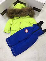 CANADA GOOSE зимний детский раздельный комбинезон для мальчика
