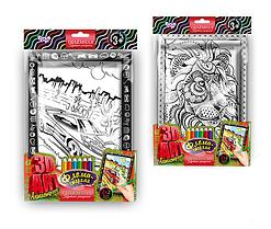 Раскраска антистресс 3D Art 2в1 с фломастерами Danko Toys