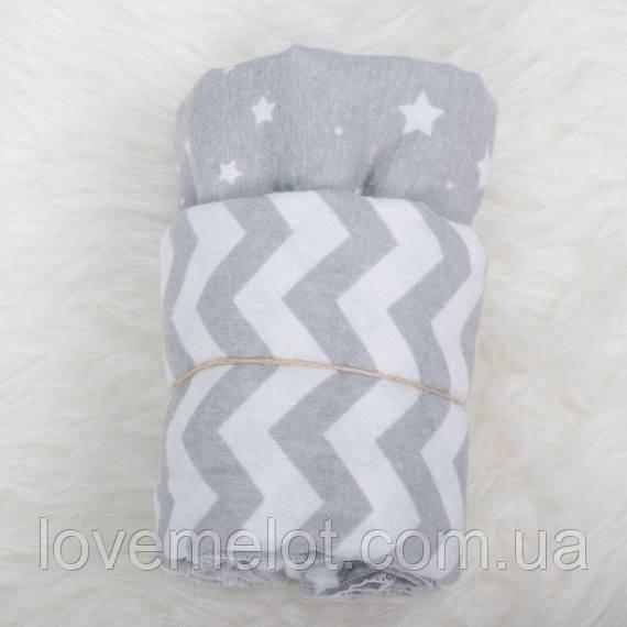 Набор из 2-х фланелевых пеленок 80*100см, пеленка фланелевая для новорожденного хлопковая, пеленки мягкие