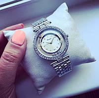 Стильные женские часы Элегант серебро+белый циферблат