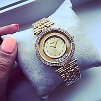 Стильные женские часы Элегант золото+золотистый циферблат