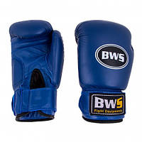 Перчатки боксерские BWS Ring Leather 8 унций (синие)