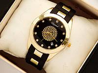 Женские наручные часы Chopard на каучуковом ремешке с вставками