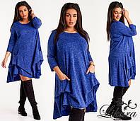 Теплое  женское платье ангора размеры: 48-50,52-54,56