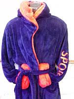 Халат махровый мужской с капюшоном