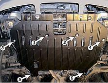 Защита двигателя Hyundai Accent (2000--2006) Полигон-Авто