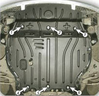 Защита двигателя Hyundai Accent (2006-2011) Полигон-Авто