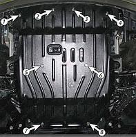 Защита двигателя Hyundai H1 4x4 (2002-2006) 2.5CROi /2.5TD Полигон-Авто