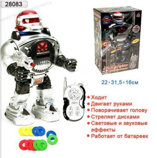 Робот на радиоуправлении со звуковыми и световыми эффектами 0465