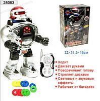 Робот на радиоуправлении со звуковыми и световыми эффектами 0465, фото 1