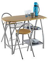 Комплект кухонный компактный (стол с полками + 2 стула скдадных)
