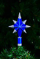 "Верхушка на елку ""Полярная звезда"" 14см (синяя)"