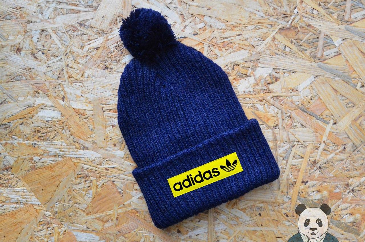 Adidas шапка с уникальным логотипом, вязаная шапка реплика