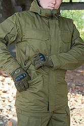 "Зимняя куртка на флисе ""Варяг"", олива"