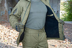 "Зимняя куртка на флисе ""Варяг"", олива, фото 2"