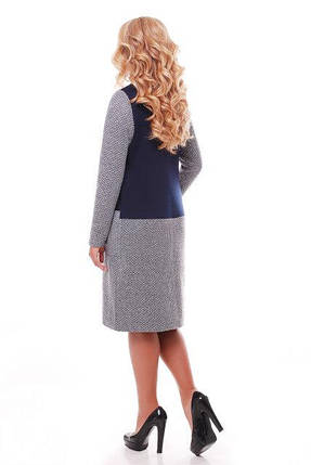 Женское повседневное платье Кэти NEW / размер 52-58 / цвет синий, фото 2
