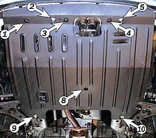 Защита двигателя Hyundai Matrix (с 2001--) Полигон-Авто