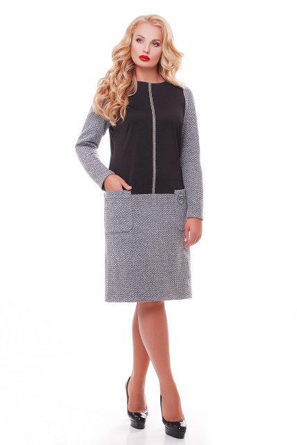 Женское повседневное платье Кэти NEW / размер 54 / цвет черный