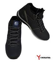 Мужские зимние кожаные ботинки, SPLINTER, синие,серая подошва