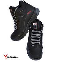 Мужские зимние кожаные ботинки, SPLINTER, черные, высокие