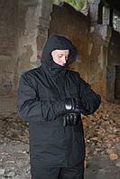 "Зимняя куртка на флисе ""Варяг"", черная"