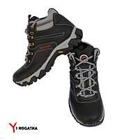 Подростковые зимние кожаные ботинки, SPLINTER, черные, прошитые Ботинки, Натуральная кожа, ТЭП, Для мальчиков, 38, Черный