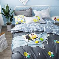 Постельное белье Ананас саржа 100% хлопок комплект евро кровать 2.0м