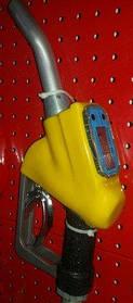 Топливозаправочный пистолет со счетчиком 70 л/мин AC-15A (желтый)