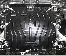 Защита двигателя Hyundai Sonata (с 2010--) 2.0 / 2.2 / 2.4 Полигон-Авто