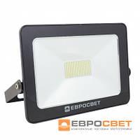 Прожектор ЛЕД Евросвет 50вт EVRO LIGHT EV-50-01 50W 95-265V 6400K 4000Lm SMD (серия стандарт)