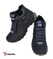 Подростковые зимние кожаные ботинки, SPLINTER, синие, прошитые