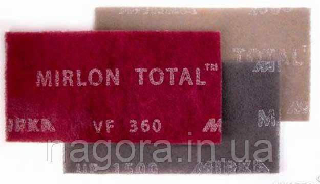 Шлифовальный войлок Mirlon Total 115х230 мм, VF 360, красный  MIRKA