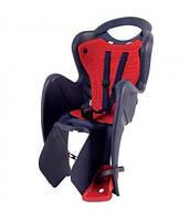 Сиденье задн. BELLELLI MR FOX Relax B-Fix Черный/красная подкладка (SAD-10-32)