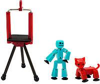 Игровой набор для анимационного творчества STIKBOT S2 PETS – СТУДИЯ (2 экскл. фигурки, штатив) (TST615А)