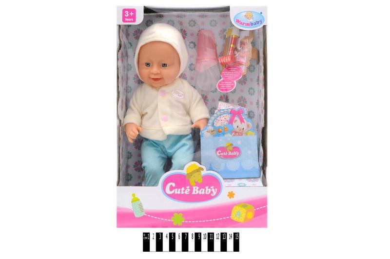Кукла пупс с аксессуарами WZJ006-4, Warm Baby, Беби Берн
