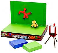 Игровой набор для анимационного творчества STIKBOT S2 PETS – СТУДИЯ Z-SCREEN (2 фиг., штатив, сцена) (TST617A)