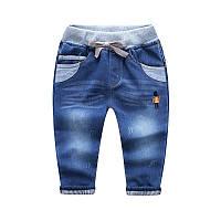 Утепленные джинсы для девочки джинсы, Резинка, Для девочек, 110 см (4-5лет)