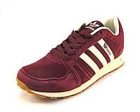 Кроссовки мужские  Adidas  замшевые бордовые (р.41,42,44,45,46)