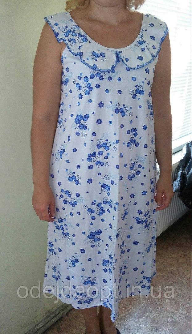 Женская ночная рубашка с воротником
