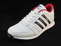 Кроссовки мужские  Adidas  кожаные белые (р.41,42,43,44,45,46)
