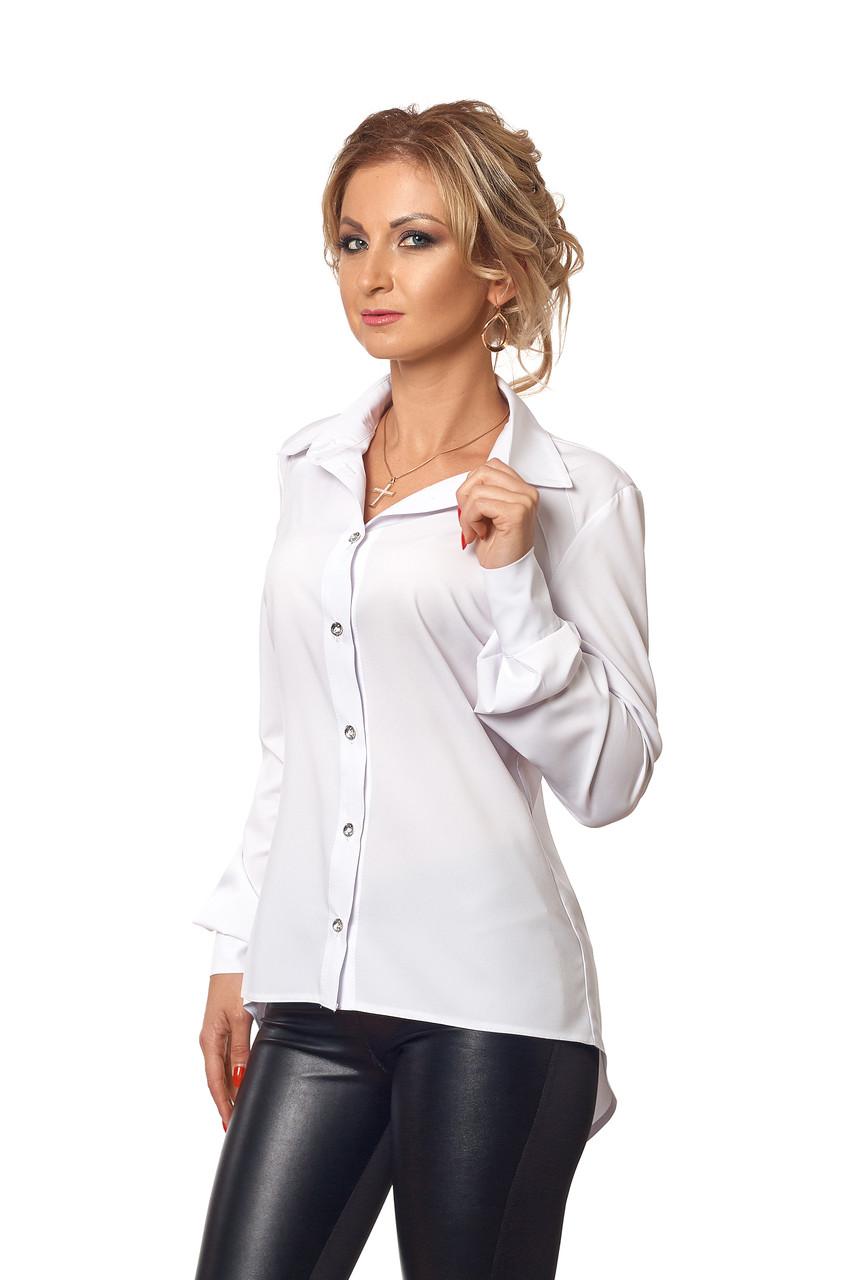 Рубашка с удлиненной спиной белая